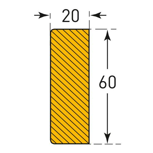 Rectangle 60/20 (Self-Adhesive)